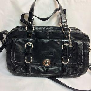 Coach Chelsea Satchel Handbag Leather Black